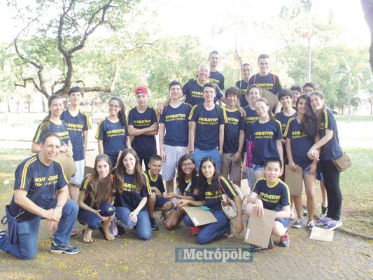 Alunos do Objetivo na final da Olimpíada Paulista de Física realizada na UNESP, em Rio Claro