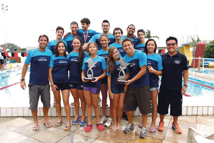 A equipe de natação foi destaque nos Jogos Abertos de 2013, com primeiro lugar no ranking geral feminino e masculino