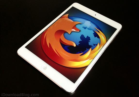 iPad com o navegador Firefox
