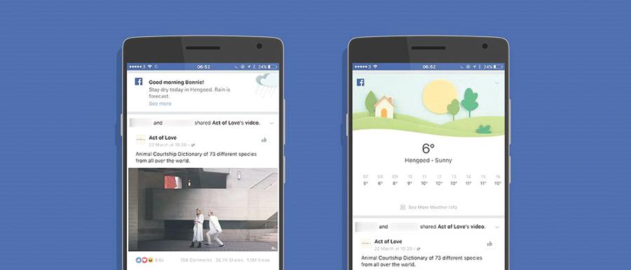 Sol ou chuva? App do Facebook dá previsão do tempo e até bom dia divulgação