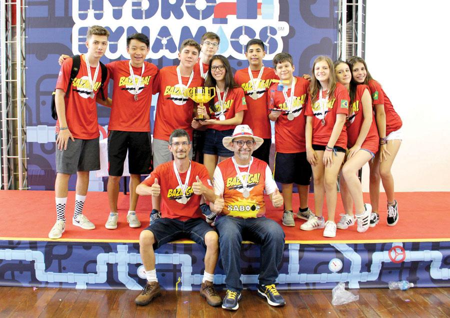 11 - (100) - Bazinga do Objetivo comemora o 1º lugar no Torneio de Robótica FLL Regional SP e a classificação para o Nacional