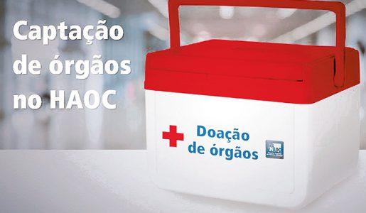 Mais uma captação de doação de órgãos é realizada no Haoc