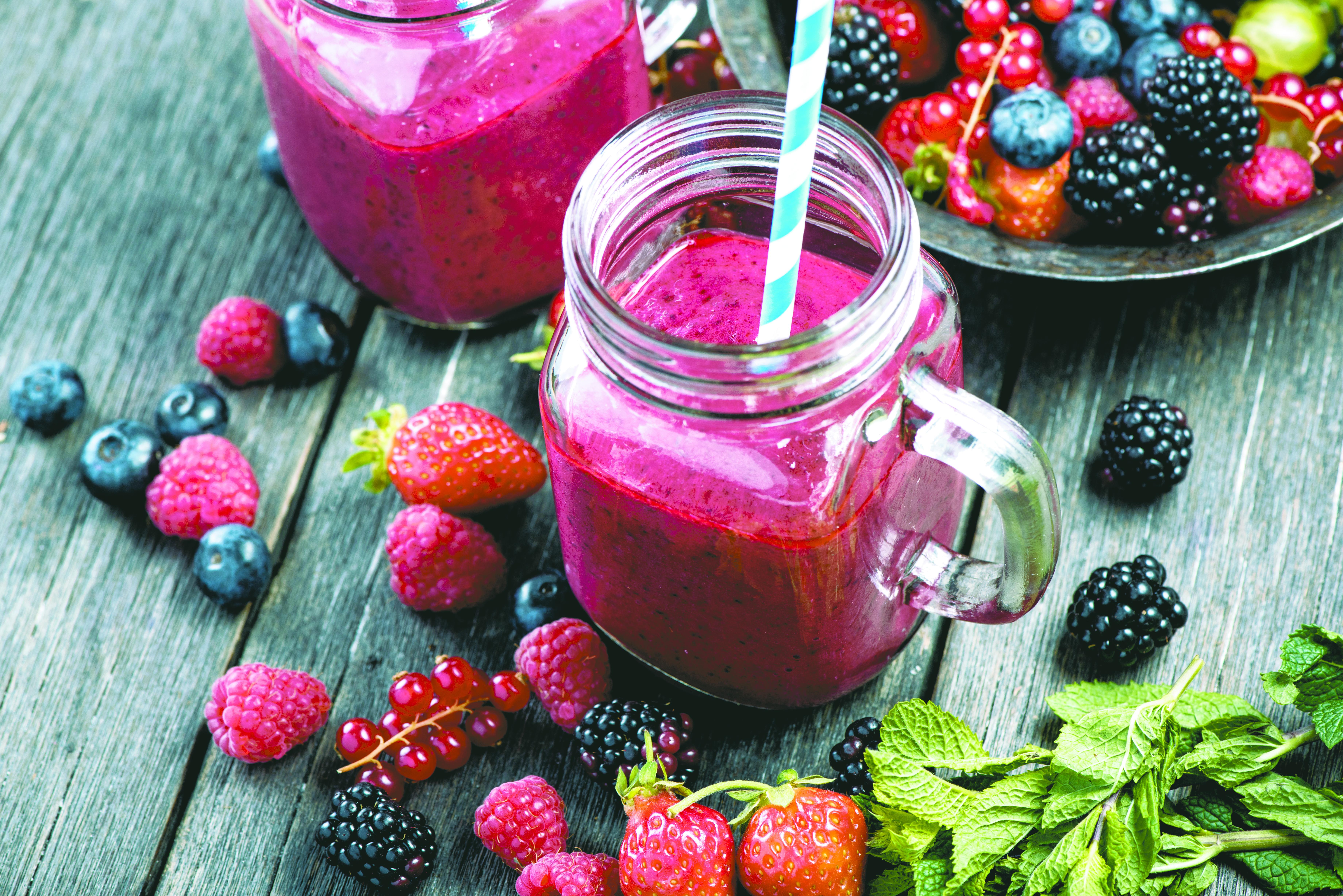 14 - Smoothie de frutas vermelhas